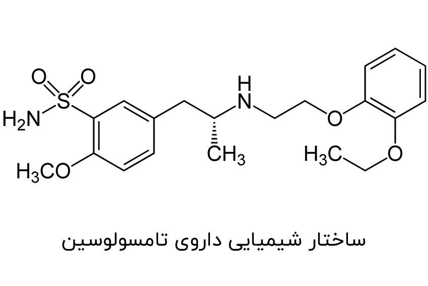 ساختار شیمیایی داروی تامسولوسین